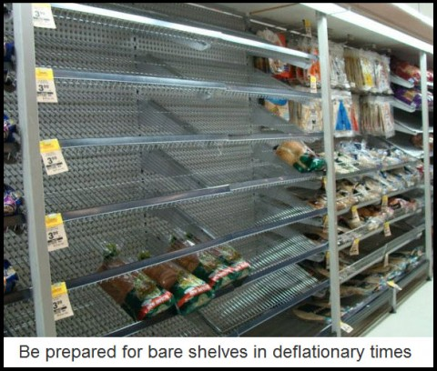 Be prepared for bare shelves in deflationary times