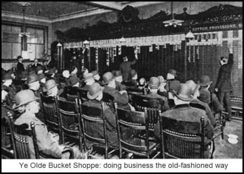 Ye Olde Bucket Shoppe: doing business the old-fashioned way