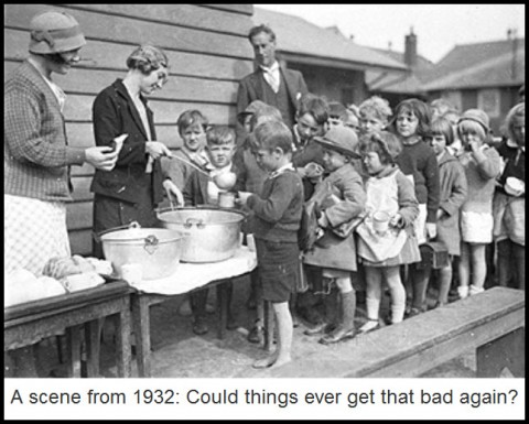 A scene from 1932: Could things ever get that bad again?