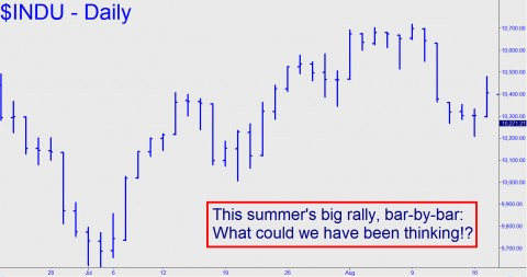 The summer's big rally, bar-by-bar: What could we have been thinking!?