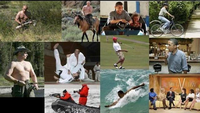 Putin yang macho dan Obama yang humanis